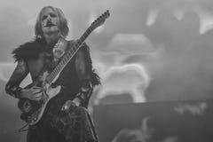Concerto in tensione Hellfest 2017 di John 5 con Rob Zombie Immagini Stock Libere da Diritti