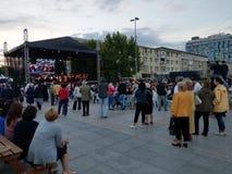Concerto vivo da ópera em PiteÈ™ti, Romênia Em maio de 2018 foto de stock royalty free