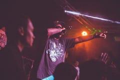 Concerto vivo de Outlawz em Moscou Rússia Imagens de Stock