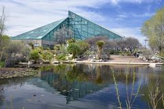 concervatory的植物园修造和 免版税图库摄影