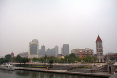 Concesión austrohúngara anterior, Tianjin, China Fotografía de archivo