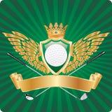 Concesión de oro del golf ilustración del vector