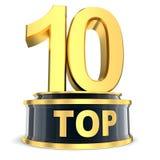Concesión del top 10 Imagen de archivo