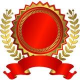 Concesión roja y de oro con la cinta (vector) ilustración del vector