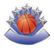Concesión del emblema del diseño del baloncesto Imagen de archivo libre de regalías