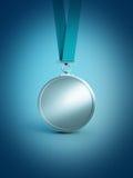 Concesión del medallista de plata Imagen de archivo libre de regalías