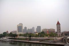 Concessão austro-Hungarian anterior, Tianjin, China fotografia de stock