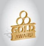 Concessão da medalha de ouro Fotografia de Stock Royalty Free