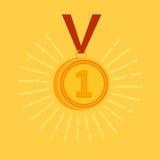 Concessão da medalha de ouro Fotografia de Stock