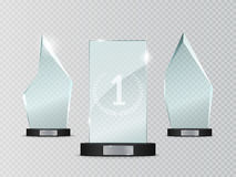 Concessão de vidro do troféu Ilustração do vetor no fundo transparente Imagens de Stock
