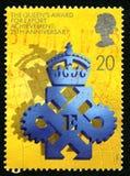 A concessão do Queens para o selo postal do Reino Unido da realização da exportação Imagem de Stock