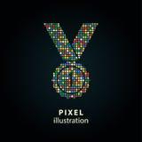 Concessão - ilustração do pixel Fotografia de Stock