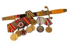 Concessões das forças armadas em um fundo branco fotografia de stock royalty free