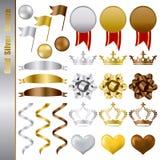 Concessões de prata do bronze do ouro ajustadas Fotos de Stock Royalty Free