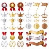 Concessões de prata do bronze do ouro ajustadas Imagem de Stock Royalty Free