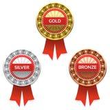 Concessões do ouro, da prata e do bronze. ilustração royalty free