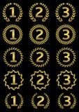 Concessões douradas ilustração royalty free