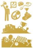 Concessões e prêmios ilustração stock