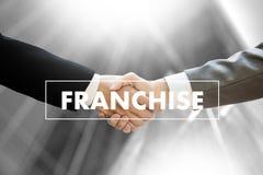 CONCESSIE Marketing het Brandmerken en détail en Bedrijfs het Werkopdracht C royalty-vrije stock foto