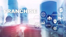 Concessieconcept op het virtuele scherm Marketing het Brandmerken en d?tail en het Concept van de Bedrijfs het Werkopdracht royalty-vrije stock fotografie