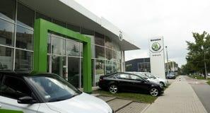 Concessionário automóvel de Skoda fotos de stock royalty free