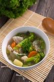 Concession de Sayur ou potage aux légumes image libre de droits