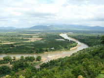 Concession la rivière Moei image stock