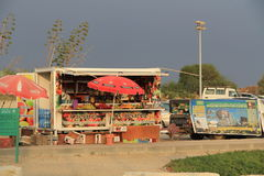 Concession Stand outside Caesarea Maritima National Park Stock Photo