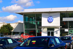 Concessionario auto di VW Immagine Stock