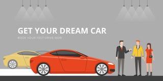 Concessionnaire automobile illustration libre de droits