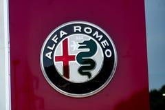 Concessionnaire automobile d'Alfa Romeo image libre de droits