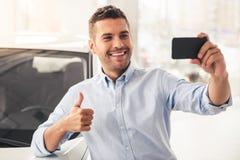 Concessionnaire automobile de visite Photos libres de droits
