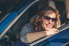 Concessionnaire automobile de visite Images libres de droits