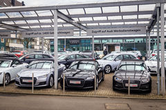 Concessionnaire d'Audi Photos libres de droits