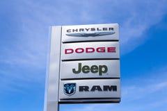 Concessionnaire d'automobile de Chrysler Images stock