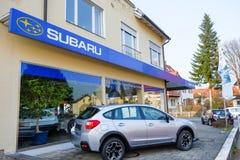 Concessionnaire de Subaru photos libres de droits