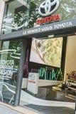 Concessionnaire de Toyota, Paris Images libres de droits