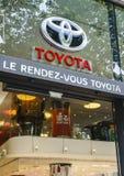 Concessionnaire de Toyota, Paris Photo libre de droits