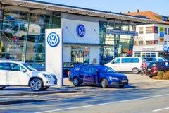 Concessionnaire de VW image stock