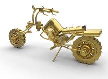 Concessão dourada da motocicleta Foto de Stock