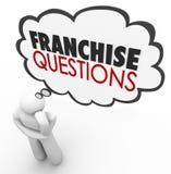 A concessão questiona o sutiã de Person Help License Chain Store do negócio Fotografia de Stock Royalty Free
