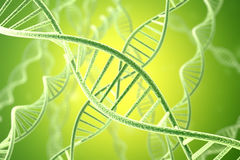 Concetp digital illustration DNA structure. 3d rendering Stock Photo