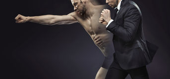 Concetpual picture of the dual man Stock Images