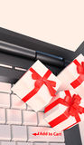 Concetti della carta di acquisto di commercio elettronico immagine stock libera da diritti
