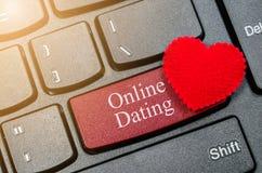 Concetti della datazione online, Immagini Stock Libere da Diritti