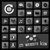 Concetti delle icone di web Fotografia Stock