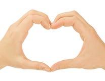 Concetti di amore - mani che formano un cuore. Fotografie Stock Libere da Diritti