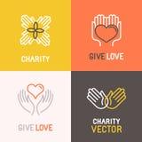 Concetti di carità e del volontario di vettore Fotografia Stock