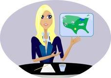 Concetti di carriera -- Meteorologo Fotografie Stock Libere da Diritti