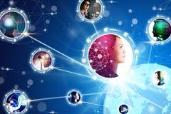 concetti di comunicazione commerciale e di tecnologia fotografia stock libera da diritti